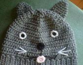 Crocheted Kitty Hat