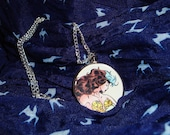 XMen Rogue and Gambit Necklace