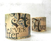 Handmade Decoupage Bracelet Cuff Fairy Tale Renaissance Jewelry Happily Ever After