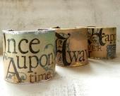 Handmade Decoupage Cuff Bracelet Fairy Tale Renaissance Jewelry