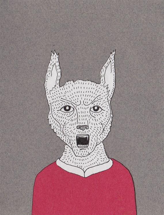 Werewolf - Original Drawing