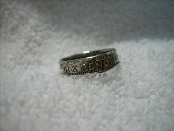 British Six Pence Wedding Day Toe Ring