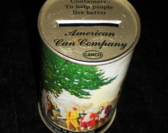 Tin Can Bank from The American Can Company