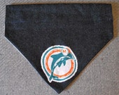 Bandana Miami Dolphins For Pets Blue Denim Size Medium