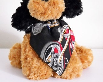 Pet Bandana Motorcycle Chopper Small Black