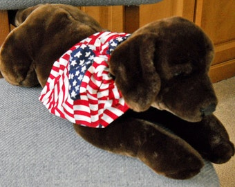 Flag Pet Bandana  Medium   Old Glory Medium Pet Bandana