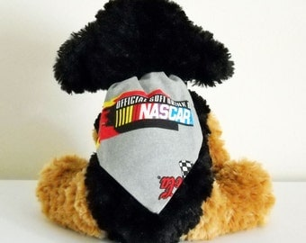 Nascar Pet Bandana  Grey Size Small