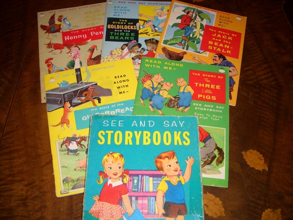 "Vintage ""Read Along with Me-See and Say Storybook"" set (Reduced price)"