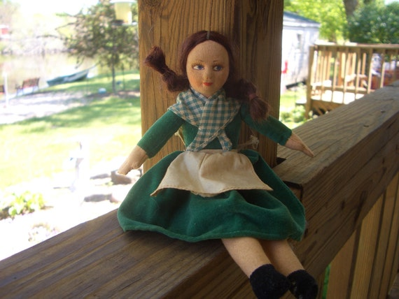 Vintage Norah Wellings Irish Girl Cloth Doll-England