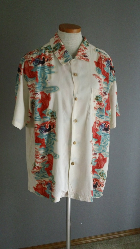 RESERVED Rayon Aloha Hawaiian Shirt