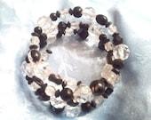 Black & Clear Beaded Bracelet