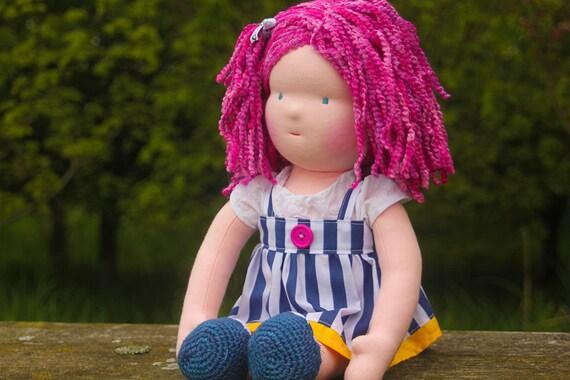 "waldorf doll called Jayne , she is 16"" tall , soft cloth doll"