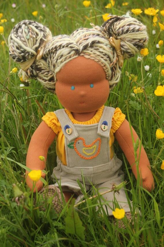 "Waldorf doll called Mika , 16""tall soft cloth doll hand made"