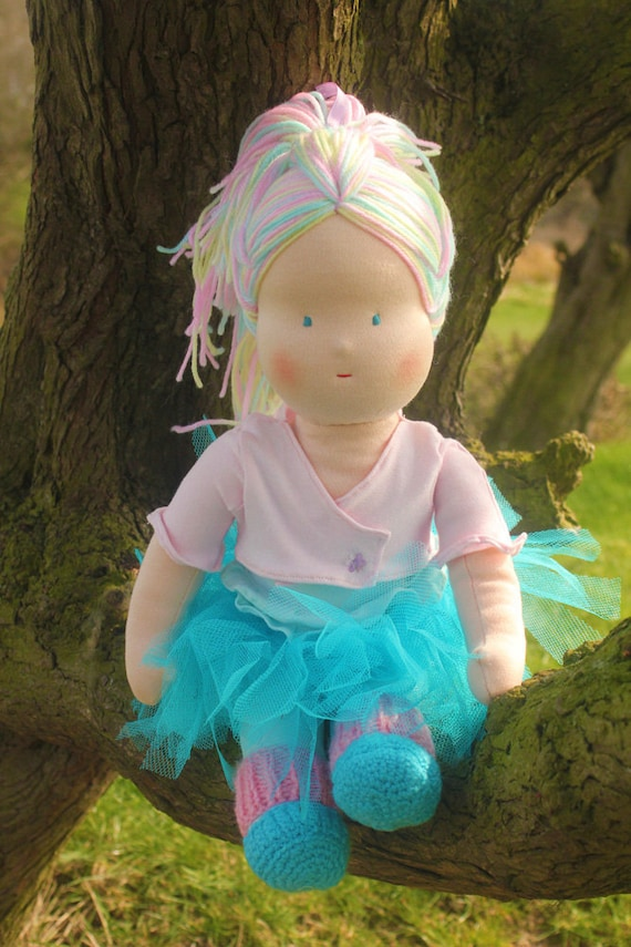 "Waldorf doll: she is called Daisy. Tutu ballet 16"" tall Cloth doll, childrens toy"