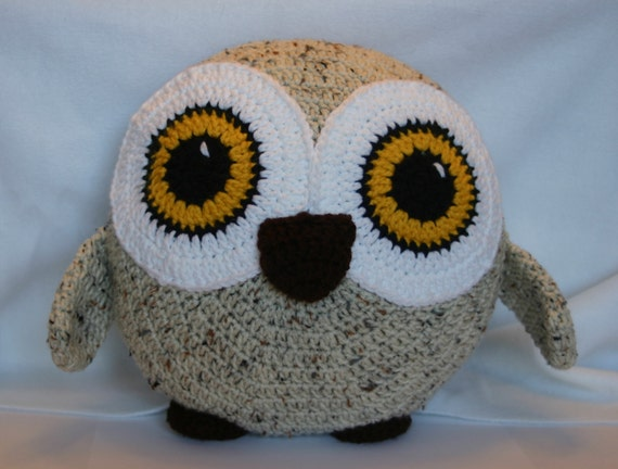 Olive the Crochet Owl Pillow
