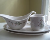 Vintage Syracuse China - Pussy Willow Pattern Creamers and Trays