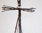 Rustic Barbed Wire Cross - Medium