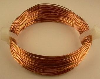 COPPER SOLID WIRE 24ga 2oz 112ft (half hard) genuine bright round copper wire