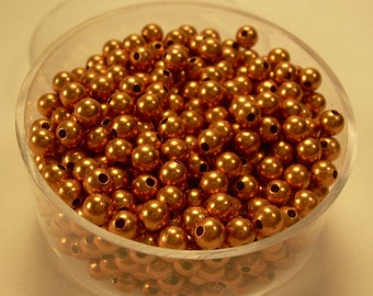 3 mm  300 Pcs. Round COPPER SMOOTH BEADS (Genuine Solid Copper)