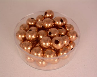7mm  50 Pcs. Round COPPER SMOOTH BEADS (Genuine Solid Copper)