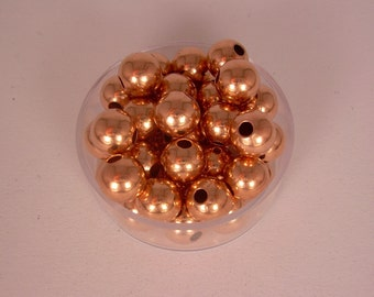 8 mm  50 Pcs. Round COPPER SMOOTH BEADS (Genuine Solid Copper)