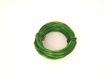 Anodized Aluminum Round Wire 18Ga 39Ft. Soft Green