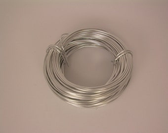 Anodized Aluminum Round Wire 18Ga 39Ft. Soft   SILVER