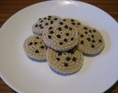 Crocheted Chocolate Chip Cookies