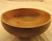 """12"""" spalted maple wooden bowl"""