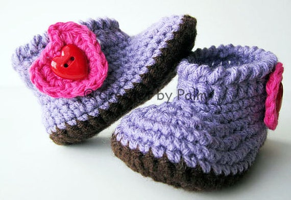 Crochet my angel baby booties, Baby shoes - Made to order