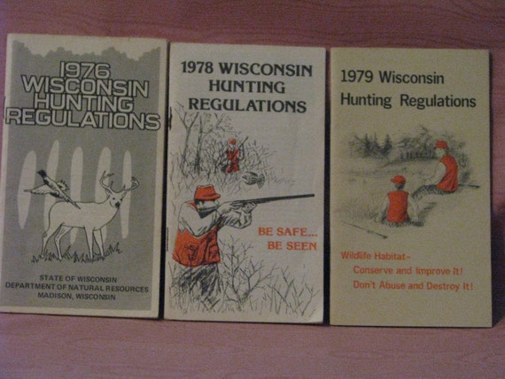 Wisconsin hunting regulations brochures by hucklebearyshoppe for Wisconsin fishing license