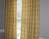 Custom Curtain Panel Set - Robert Allen for Dwell Studio Citrine