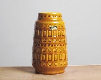Caramel glossy Inka decor vase by Scheurich (260-18)