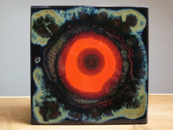 Hutschenreuther Renee Neue Psychedelic wall tile (1970s)
