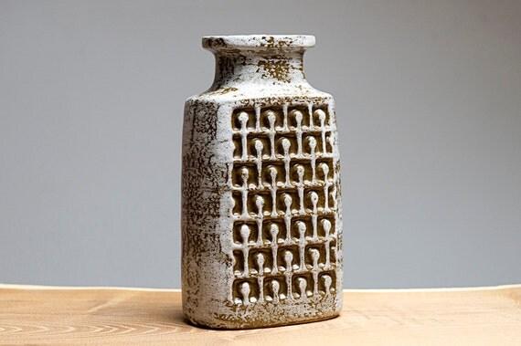 Retro patterned vase by VEB Haldensleben (East Germany)