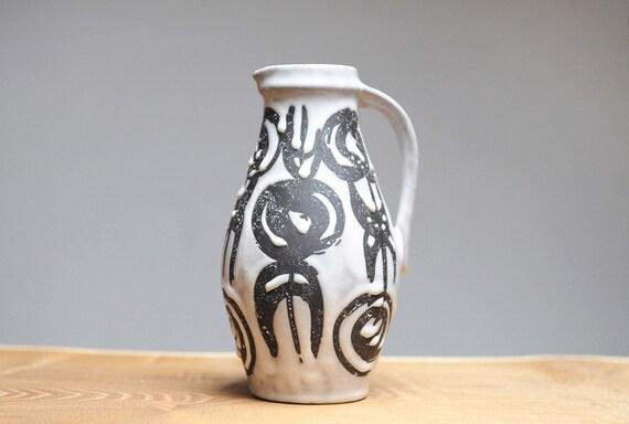 West German handled vase by Jasba