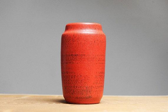 Small scarlet red West German vase by Scheurich (231-15)