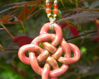 Pink Celtic Shield Knot