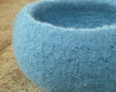 The Giving Bowl - Organic Wool Felted Bowl - Raindrops Medium - Ready to Ship - Charity