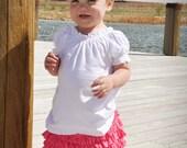 Ruffle Bright Pink Skirt made of Cotton Jersey Knit