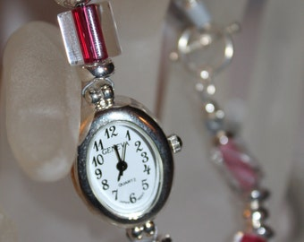 Hot Pink Lampglass Watch