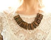 Oak Wood Necklace - 'Dinner Party'