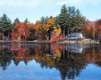 Fall Photography, Foliage, Reflections, Maine, Photographic print