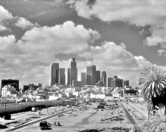 Infrared Photograph, Los Angeles, Skyline, Fine Art Print