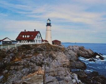 Photographs, Lighthouse, Portland, Maine, Fine Art Print
