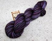 Back Alley Sally, 80/10/10 merino cashmere nylon DK weight yarn