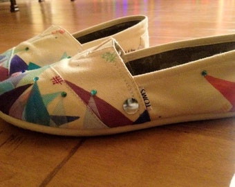"Custom painted TOMS "" the architecture of happiness"""