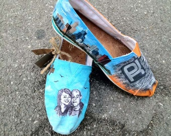 Custom Painted Shoes- Chicago