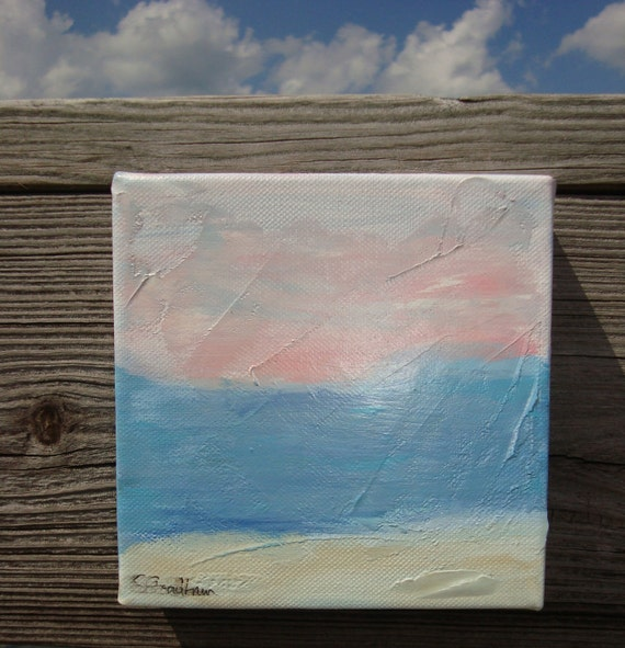 Pink Summer Sunset original painting