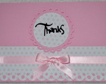 Baby Girl Thank You Cards  set of 12